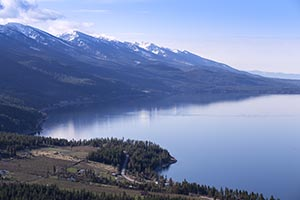 Aerial Image Blue Bay, Flathead Lake