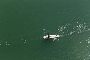 Aerial Paddle boarding