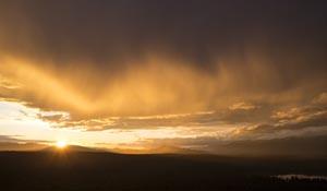 Dramatic Montana Sunset