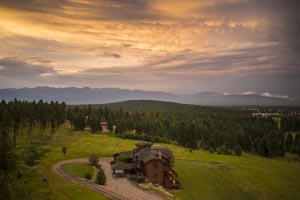 V Ranch with Montana Sunset