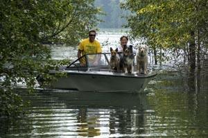 Hungry Horse Reservoir Dog Boat