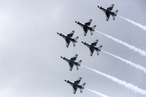 Thunderbird Planes in Formation