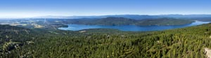 Panoramic View of Whitefish Lake