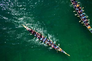 Aerial View of Dragon Boat