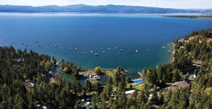 Flathead Lake View of Dragon Boat Races