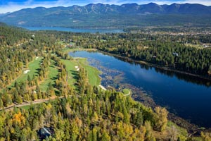 Aerial View of Whitefish Lake Golf Course