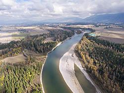 Flathead River in Fall Flathead River Fall Aerial
