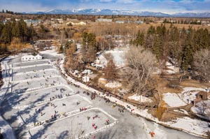 Woodland Park Montana Pond Hockey
