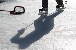 Pond Hockey Shadow