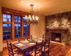 Twilight Dining Room Shot 1617 Whitefish Hills Dr.