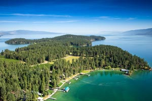 Finley Point, Flathead Lake Aerial