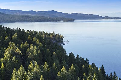 Lakeside Aerial Image of Flathead Lake
