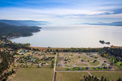 Flathead Lake, Aerial Image of Bigfork Landing