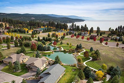Bigfork Landing Aerial Photo, Flathead Lake