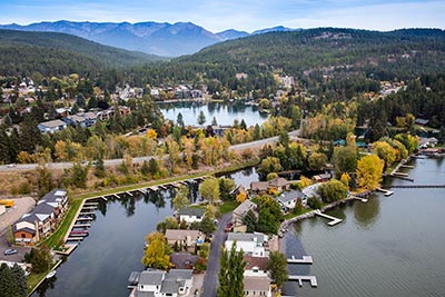Bigfork Bay Aerial View, Flathead Lake