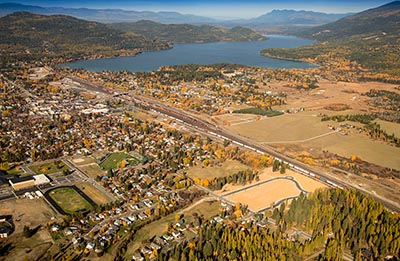 Aerial View of Whitefish, Montana