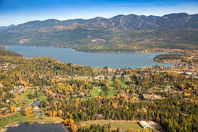 Whitefish Lake Golf Course Aerial View