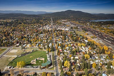 Fall over Whitefish, Montana