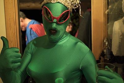 Green Alien Halloween