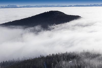 Inversion above Blacktail Mountain