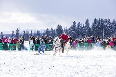 Ski Joring Championship in Whitefish