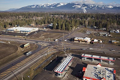 Highway 40 and Highway 2 Aerial View