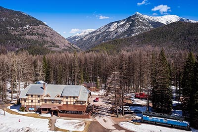 Aerial View of Izaak Walton Inn