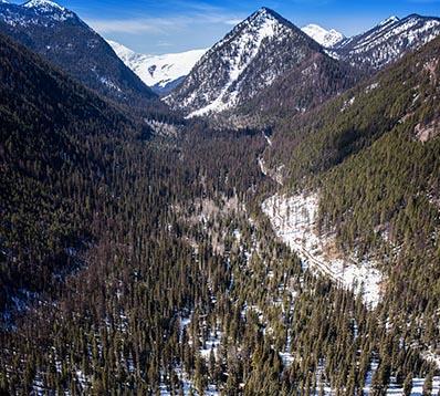 Aerial View Essex, Montana