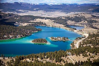 Aerial View of Foys Lake