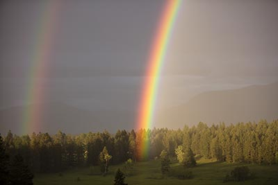 Double Rainbow over Meadow
