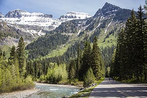Biking in Glacier National Park