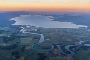 Aerial View of Flathead Lake