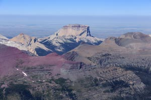 Aerial View of Chief Mountain, Glacier National Park