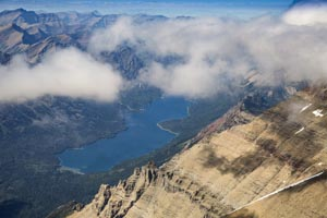 Aerial View of Glacier National Park