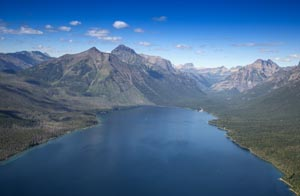 Aerial View of Lake McDonald
