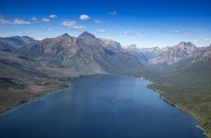 Aerial View of Lake McDonald