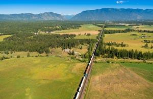 Train travel through Voerman Road