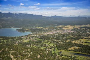 Aerial View of Whitefish