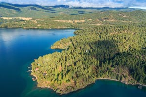 Aerial View of Rollins Bay, Flathead Lake