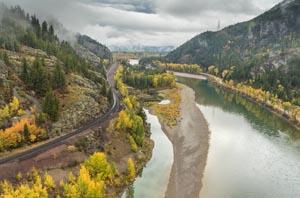 Badrock Flathead River and BNSF Tracks