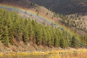 Rainbow over Clark Fork River