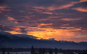 Sunset from Whitefish