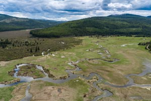 Aerial of Star Meadows Ranch