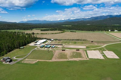 Aerial view of Whitefish Equestrian Center