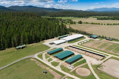 Whitefish Equestrian Center from the air