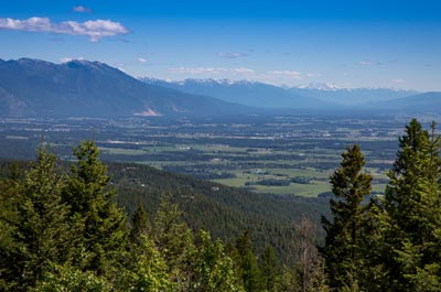 Flathead Valley Aerial view from Big Mountain