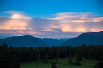 Lenticular Clouds over Badrock Canyon
