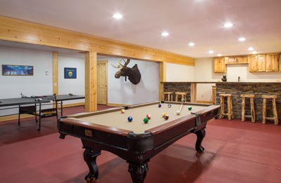 Game Room at Star Meadows Ranch