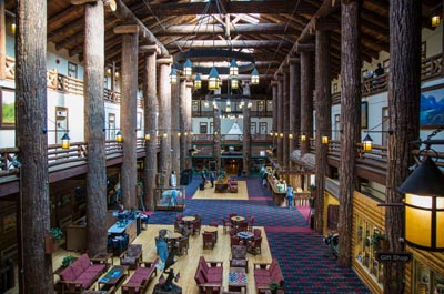 Glacier Park Lodge East Glacier Lobby