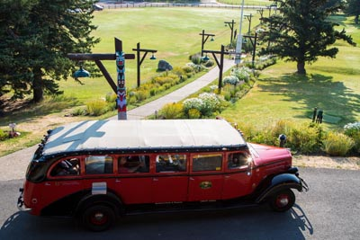 Jammer Bus at East Glacier Lodge